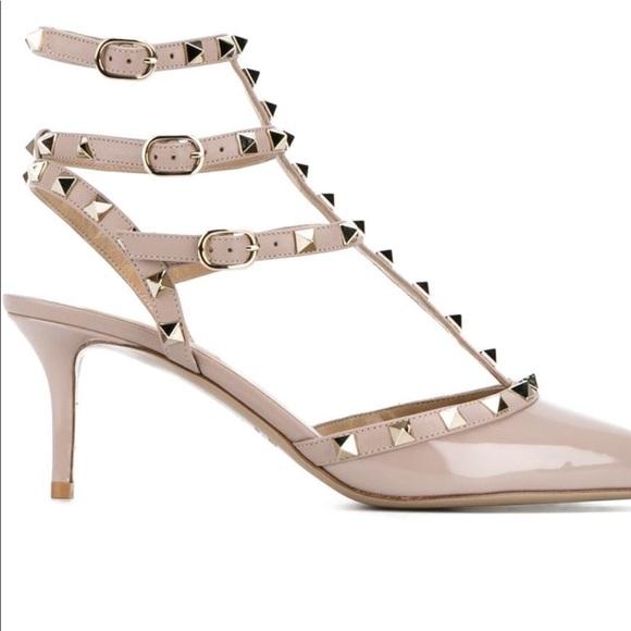 24350fef7c Valentino Shoes | Rockstud Mid Heels Sz 41 | Poshmark